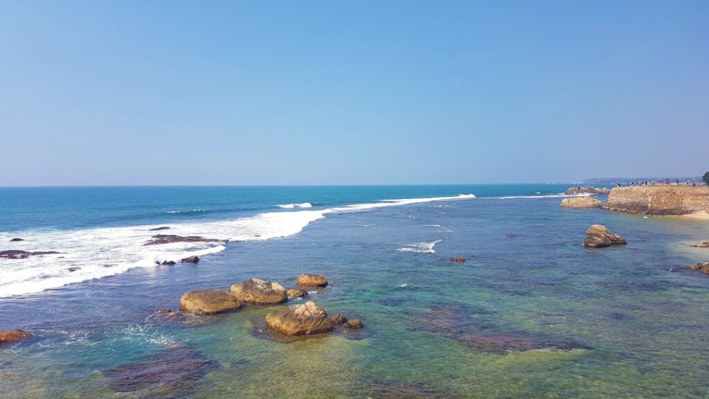 Views of the Indian Ocean from Flag Rock Bastion