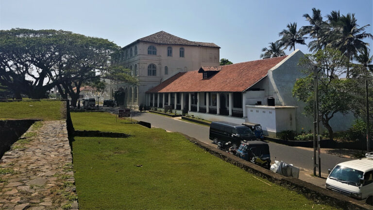 Views of the town within the walls of Galle Fort