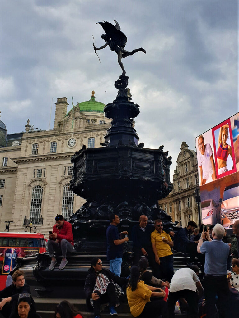 Statue of Eros outside Piccadilly Circus station