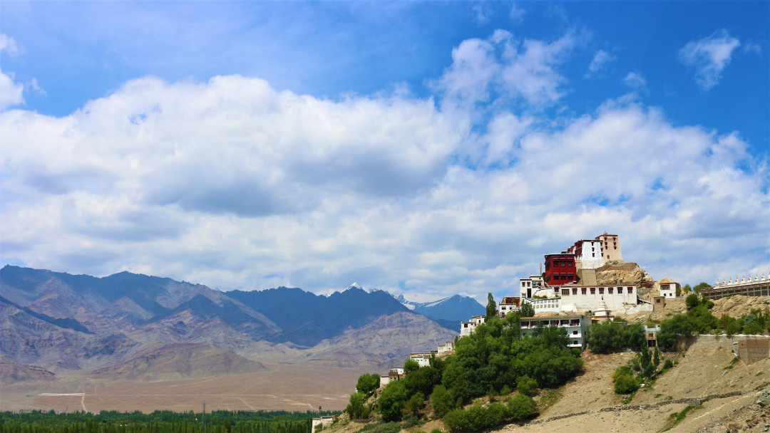Thiksey Monastery with the Indus Valley plains below
