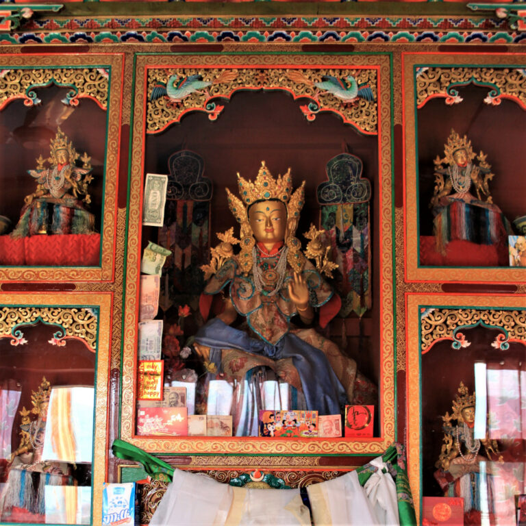 The shrine to Goddess Tara