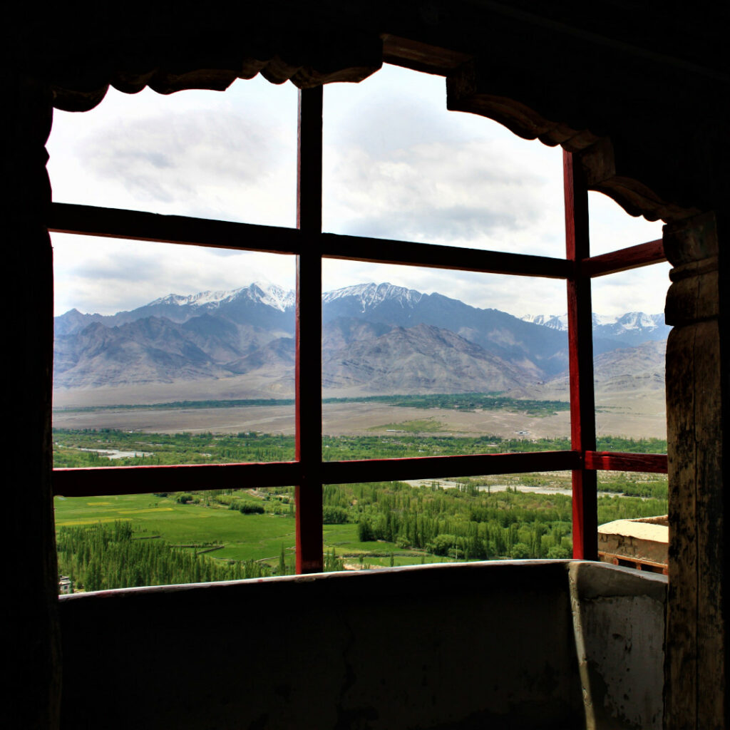 The Indus Valley plains from Thiksey Monastery
