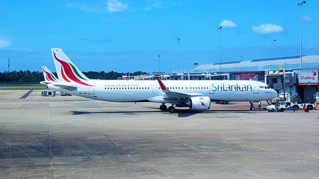 View of a Sri Lankan airline