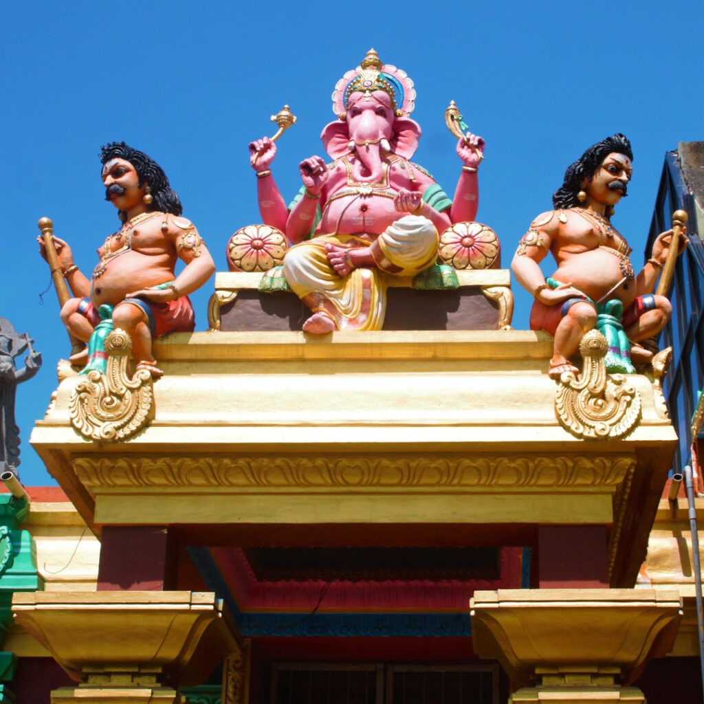 Ganesh towers over you