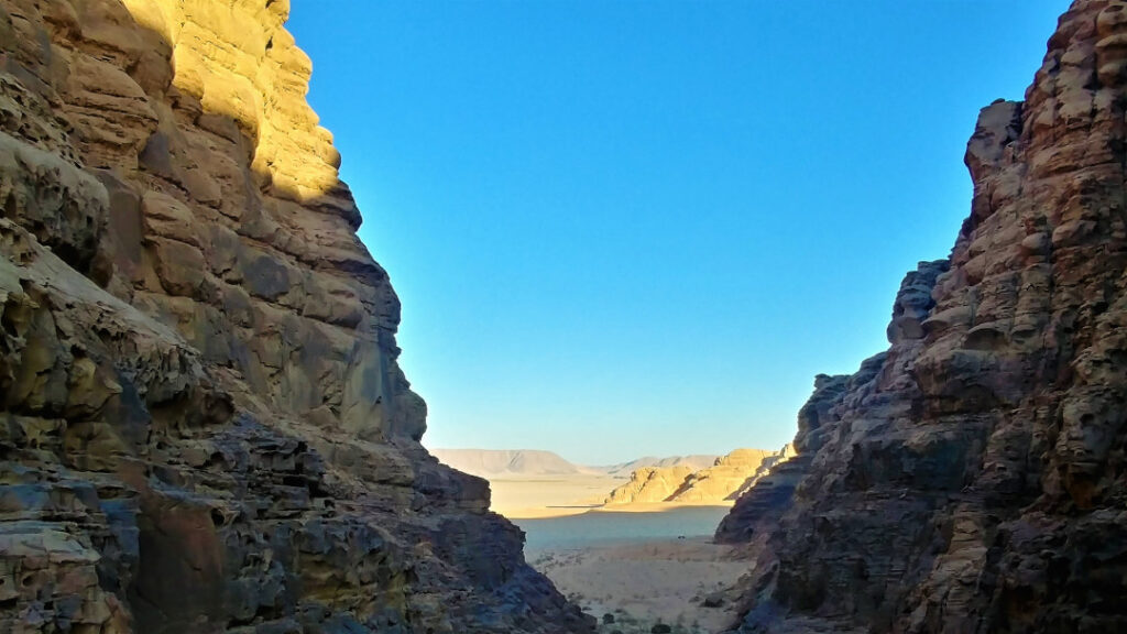 A view of Wadi Rum