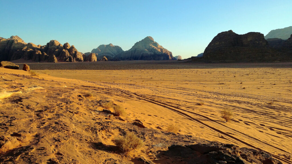 Valley of the moon or planet Mars