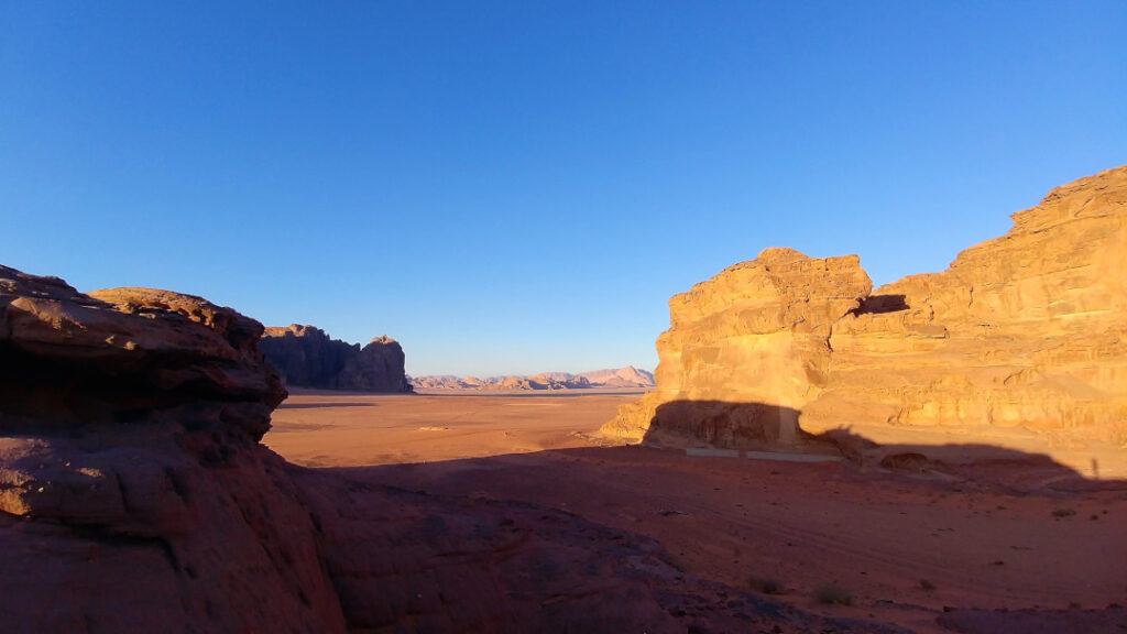 Shadow play over Wadi Rum