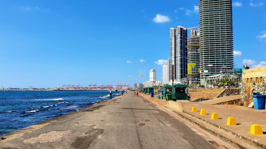 Marine Drive with Colombo Port in the background