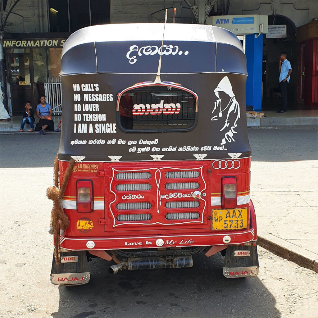 Don't miss the quote on this tuk-tuk
