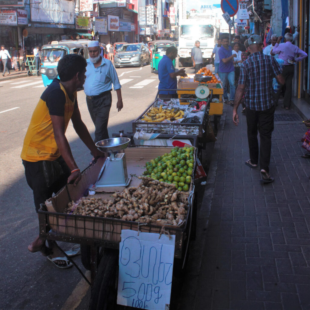 Vegetable seller at Pettah