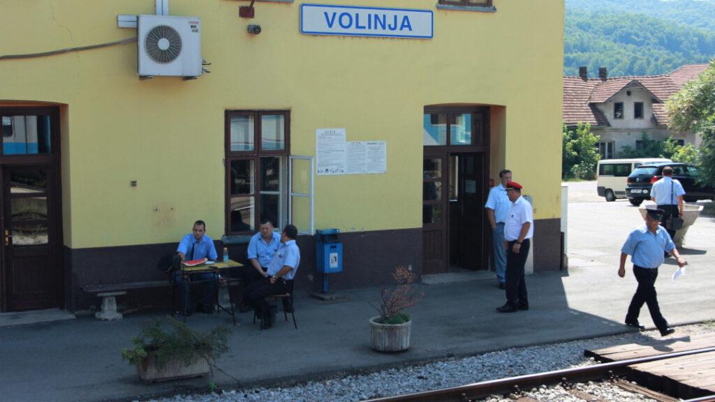 Border control at Volinja in Croatia