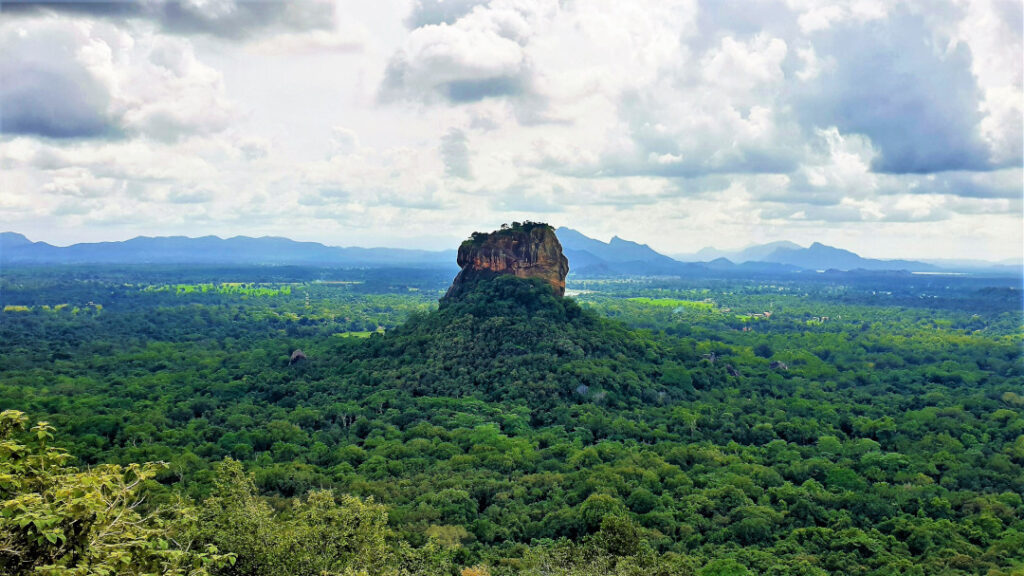 View of the majestic Sigiriya rock