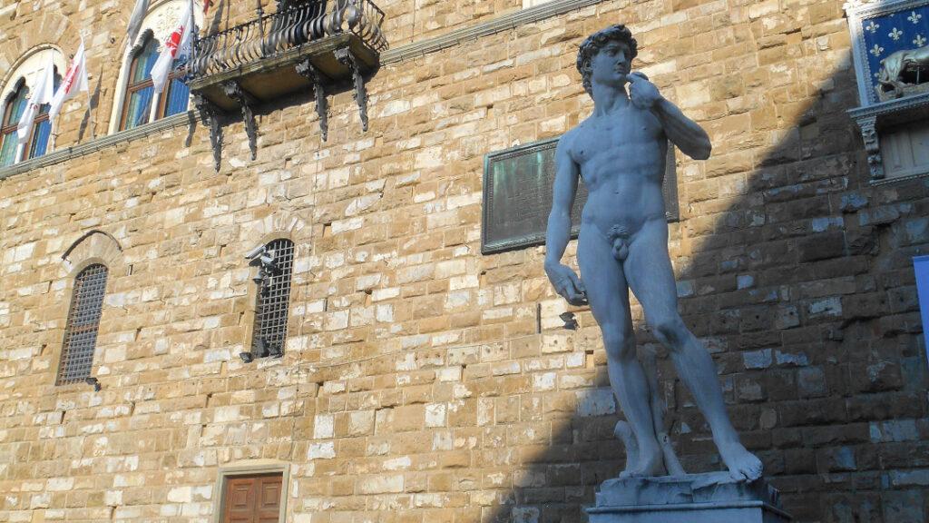A copy of Michelangelo's David