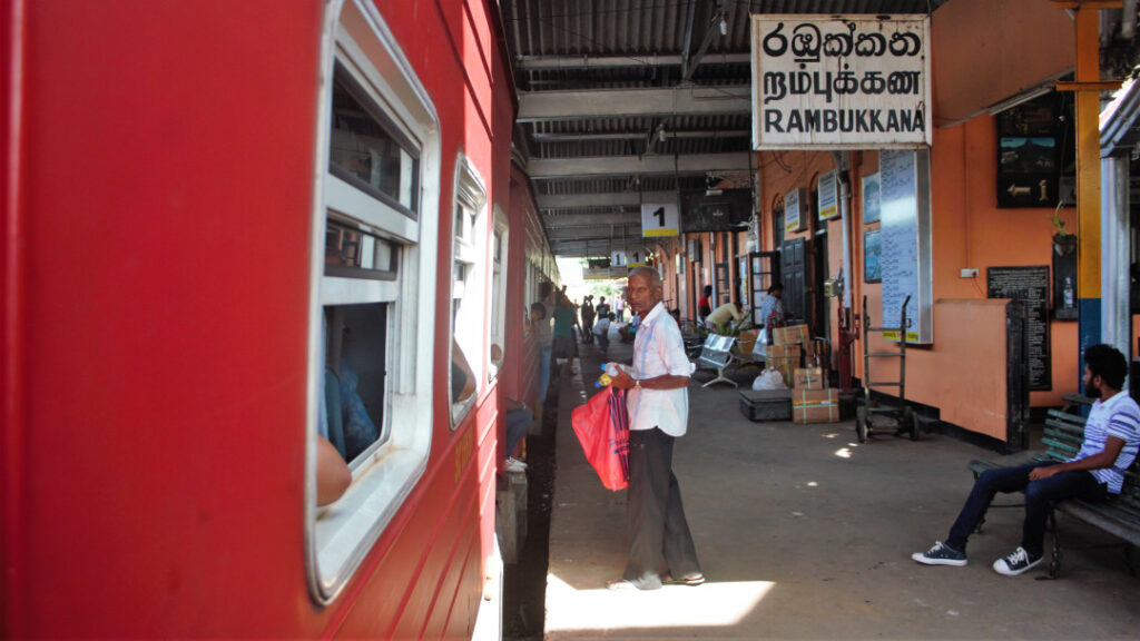 A snack vendor at one of the stations