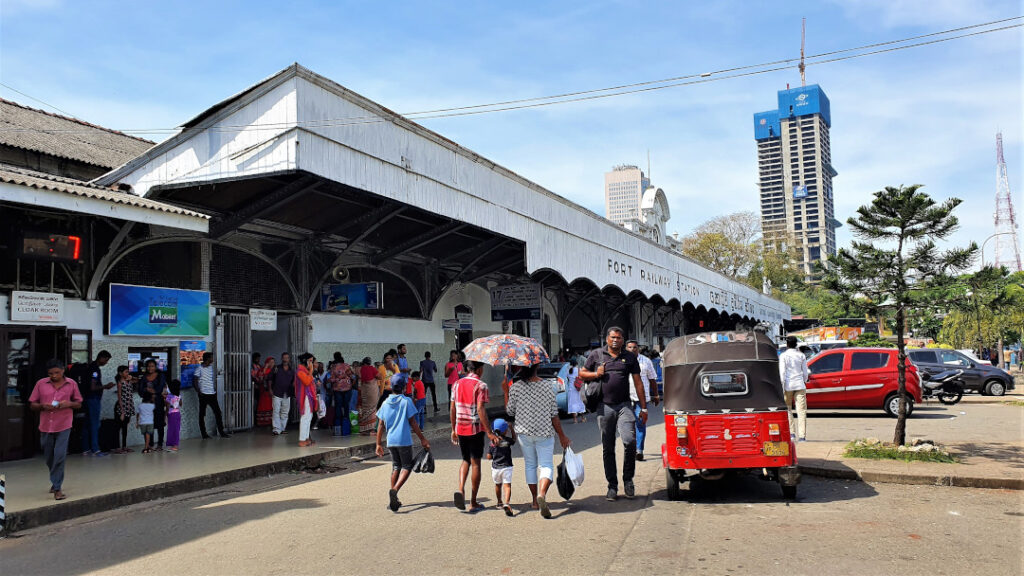 Side view of Colombo Fort railway station