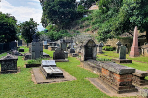 The British Garrison Cemetery in Kandy