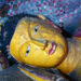 A reclining Buddha inside one of the caves