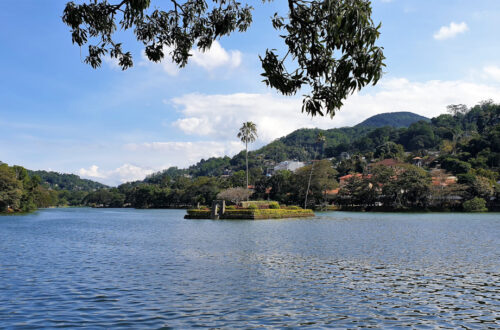 View of Kandy lake