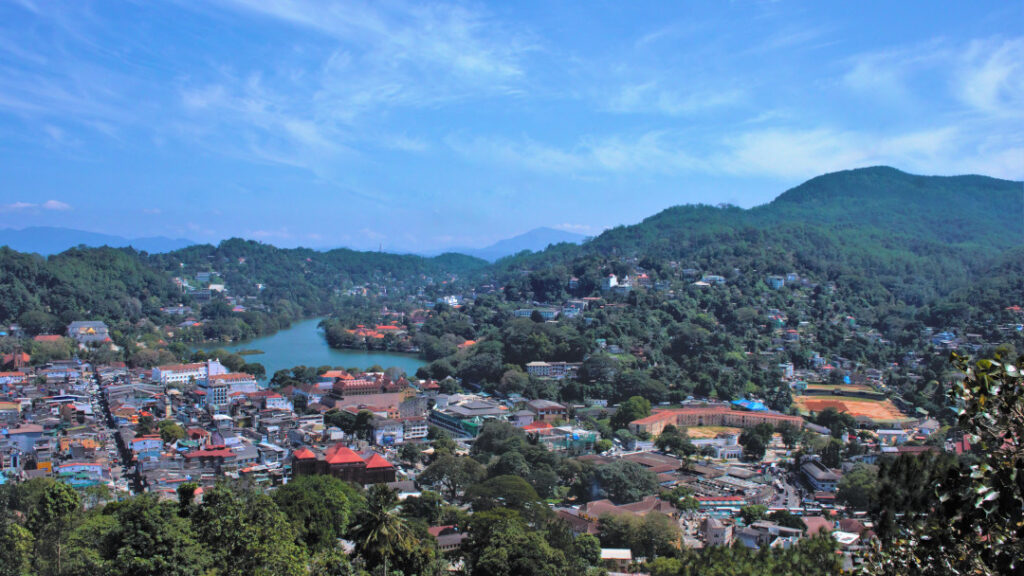 View of Kandy from the temple