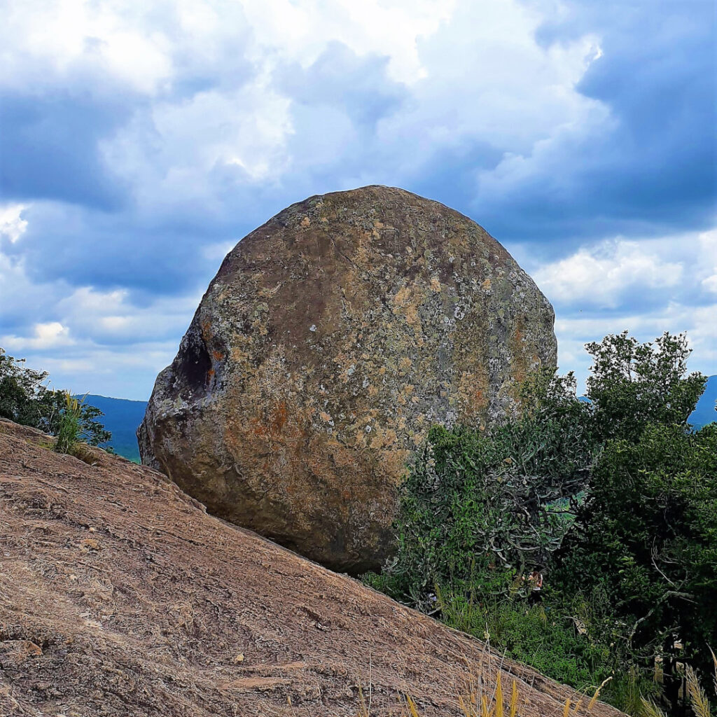 The rock atop Pidurangala