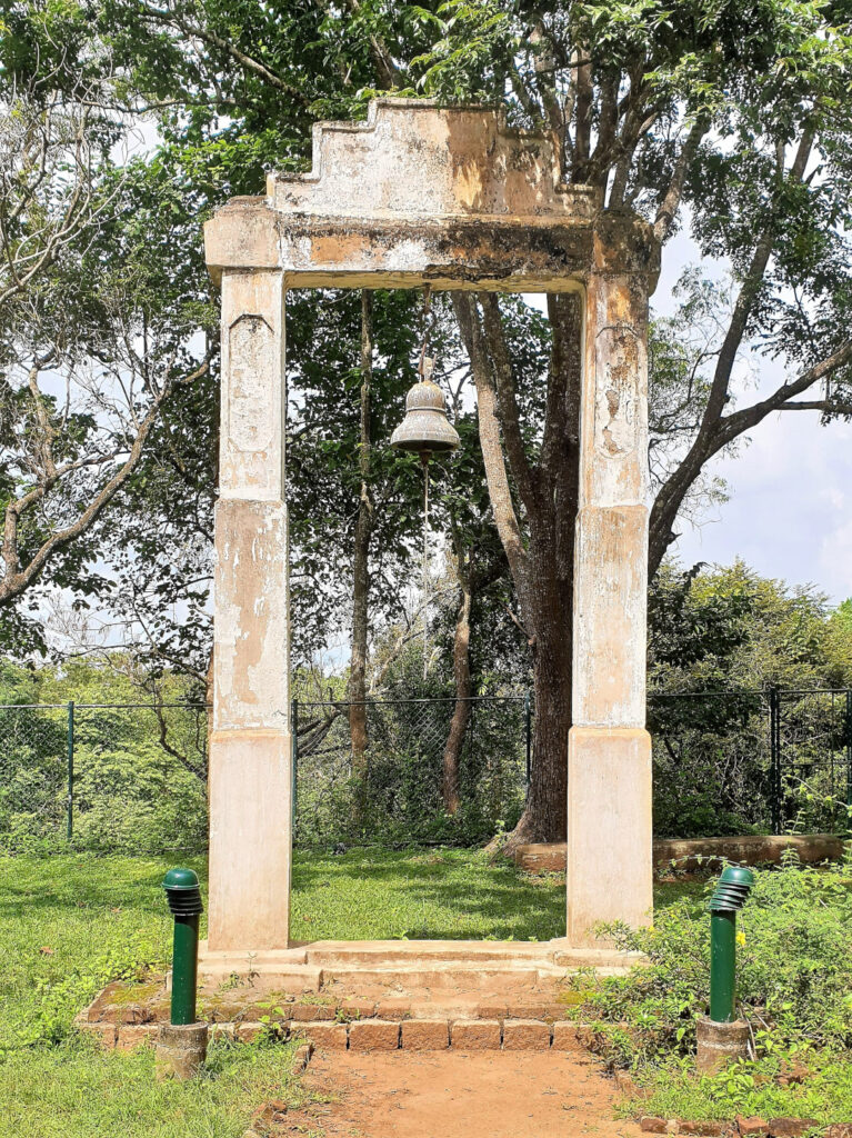 Pidurangala temple bell at the base