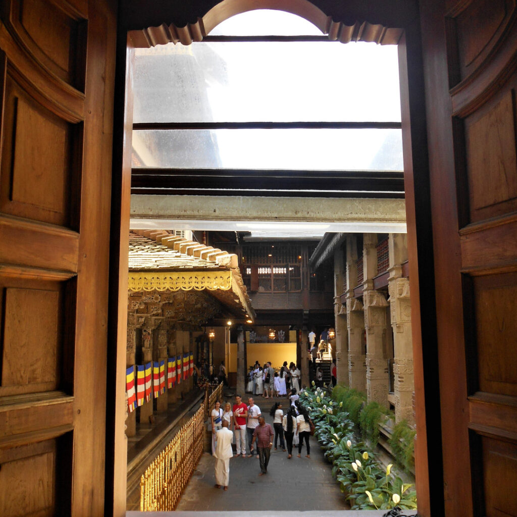 View from the wooden gallery on the first floor