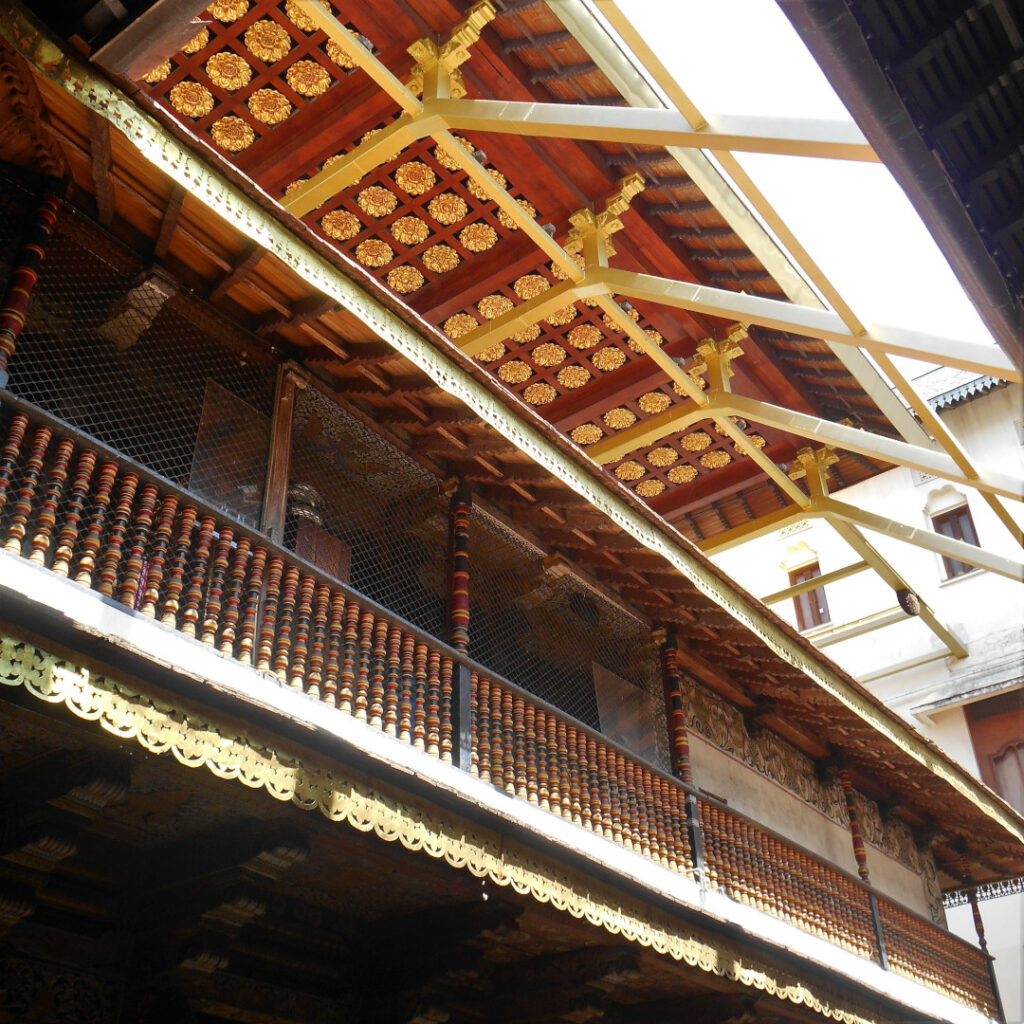The golden canopy to protect the shrine below