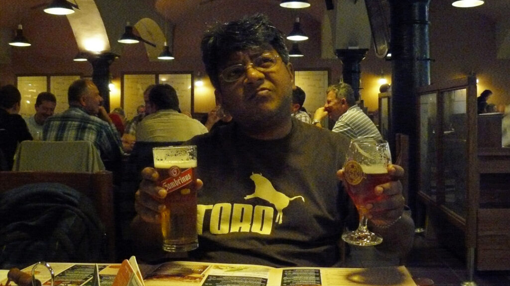 Neel takes a few sips and moments to decide which is better