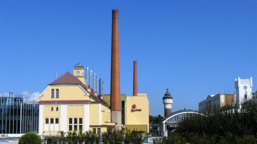 View of the brewery once through the gate